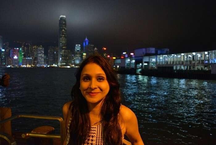 isha aggarwal hong kong family trip: at waterfront