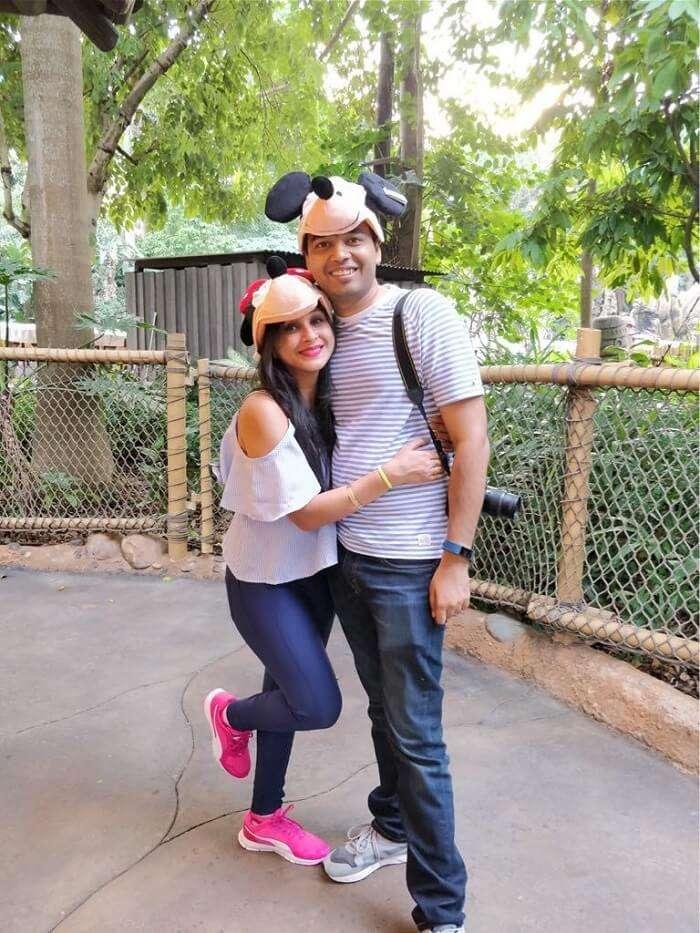 isha aggarwal hong kong family trip: with her husband in disneyland