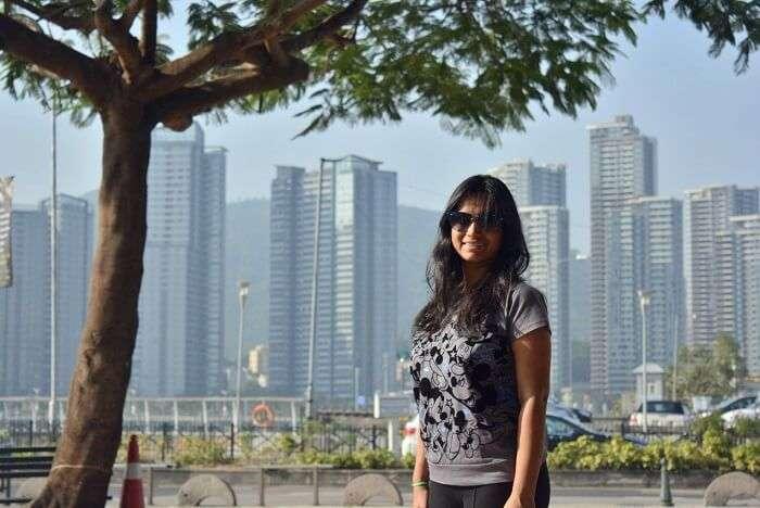 isha aggarwal hong kong family trip: isha sister in law in hong kong