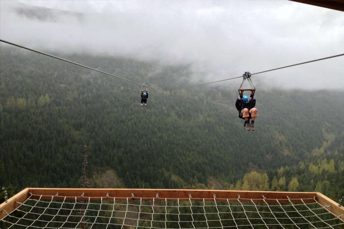 ziplining in Jatayu Adventure Camp