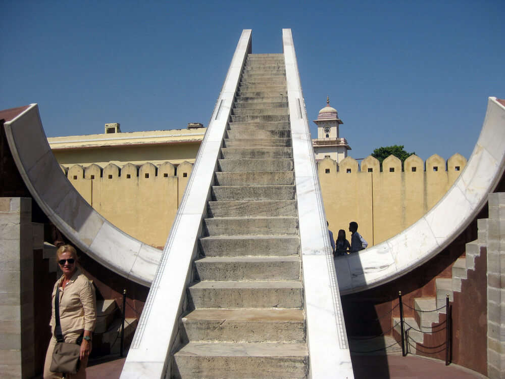 a staircase in jantar mantar