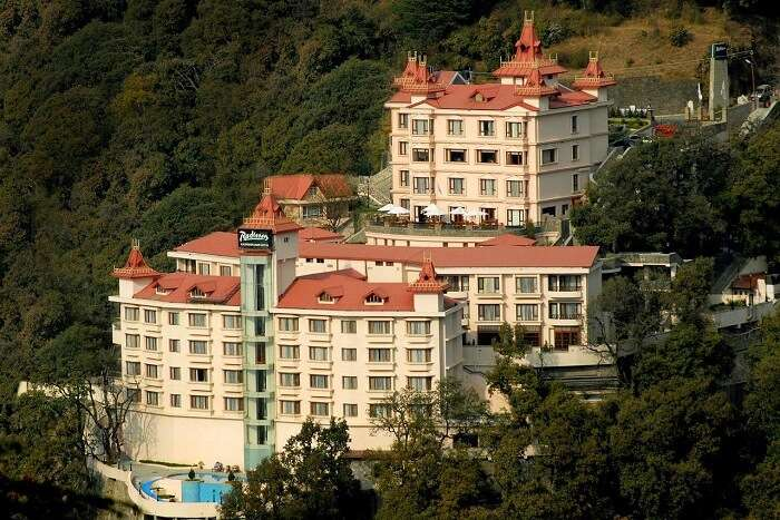 Exterior of Radisson Hotel Shimla
