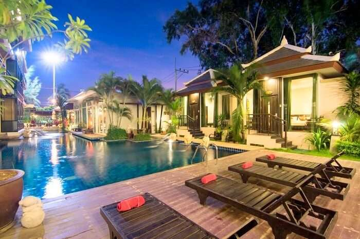 Pool Side At Royal Heritage Pavilion Pattaya