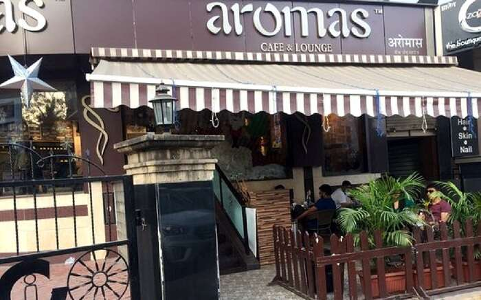 A view of Aromas Cafe in Mumbai