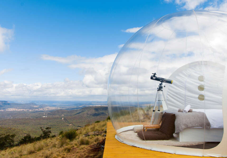 a telescope inside a bubble