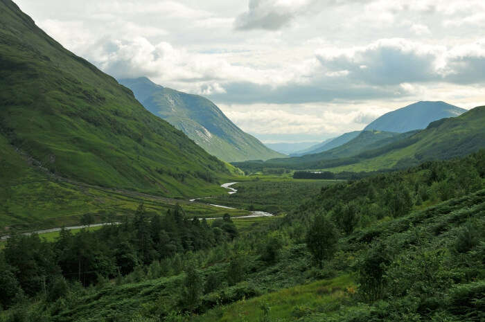 Glen etive in Scottish Highlands