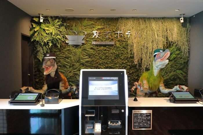 henn na hotel japan reception robots