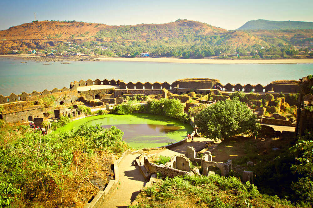 Murud fort by a lake