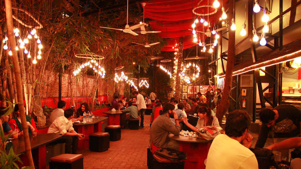 inside Prithvi theater cafe