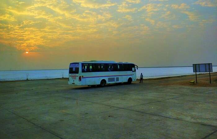 Bus at Rann of Kutch