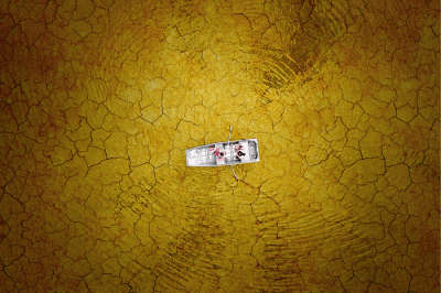 Best Drone Photos of 2017: CRACKED MUD BOATING