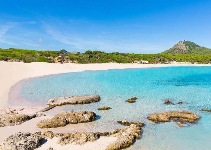 Cala Agulla beach in Spain