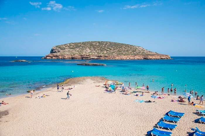 Cala Comte beach in spain