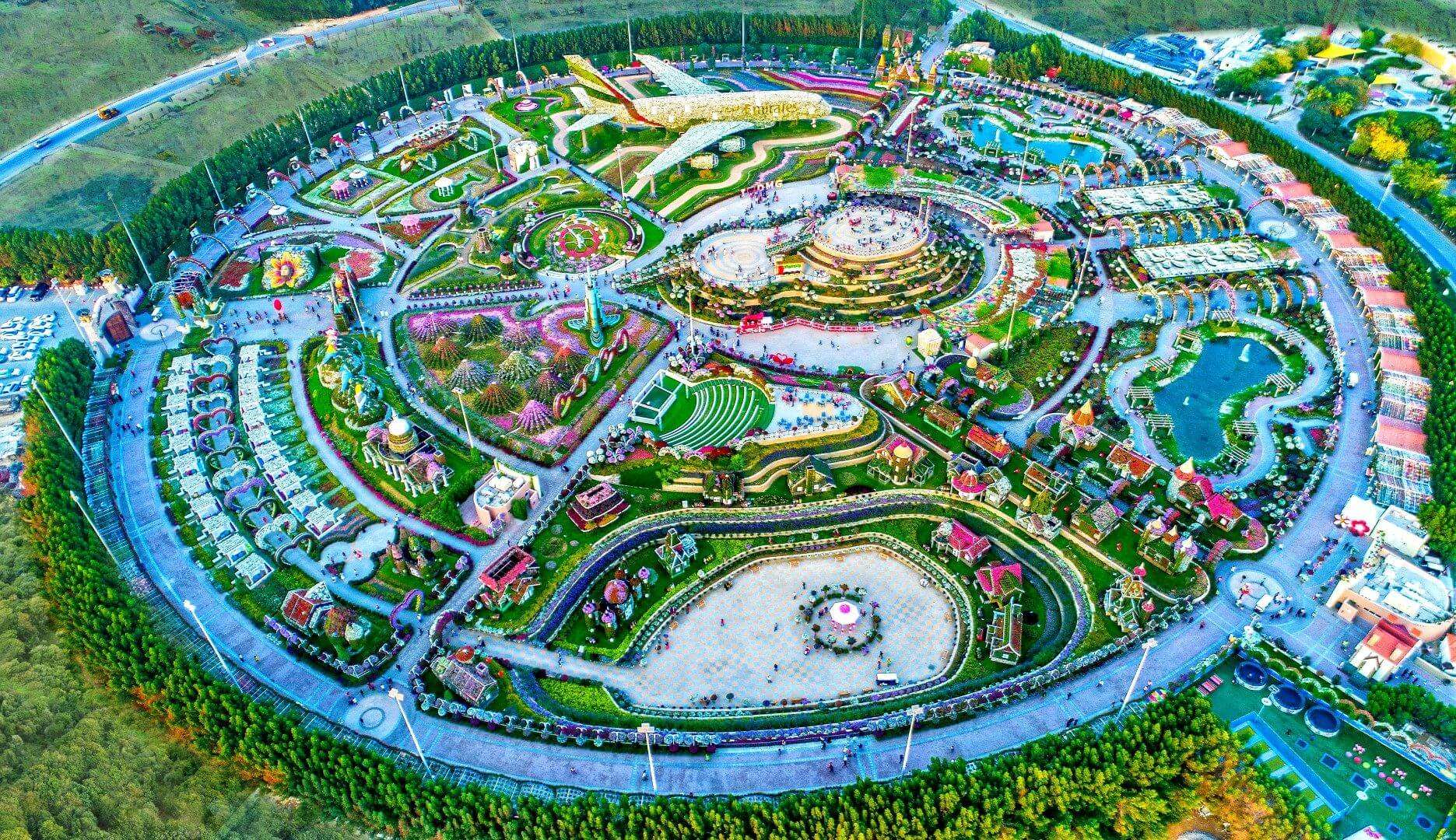 view of Dubai Miracle Garden