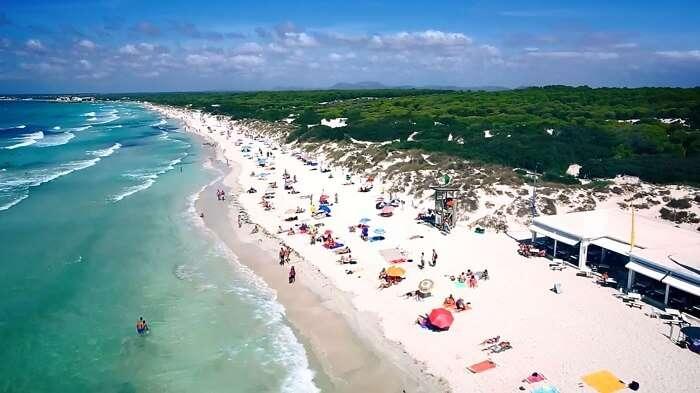 Es Trenc Beach Mallorca spain