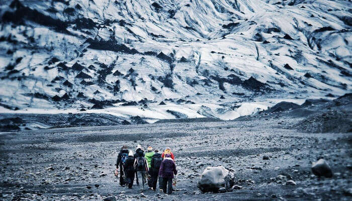 Hike upto the glaciers