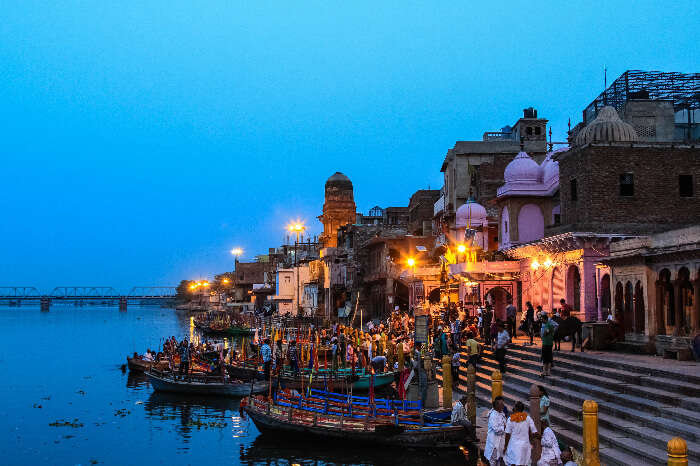 A ghat in Mathura