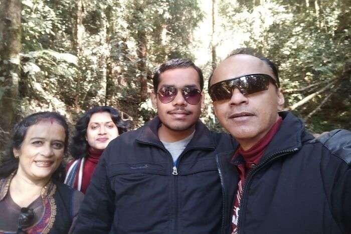 Shantanu northeast trip- family posing