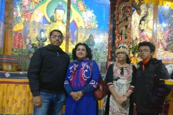 Shantanu northeast trip- inside monastery in namchi