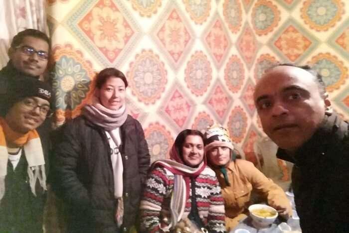 Shantanu northeast trip- in the hotel