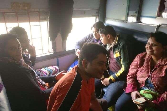 Shantanu northeast trip- train journey home