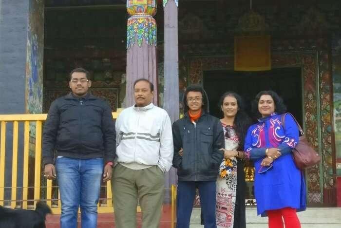 Shantanu northeast trip- near monastery in namchi