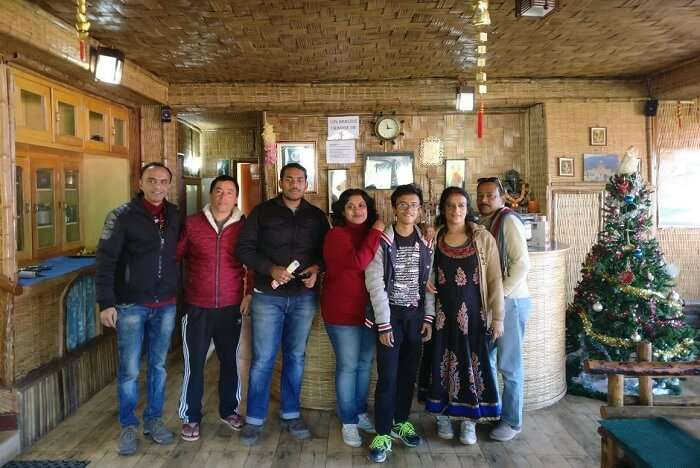 Shantanu northeast trip- posing in hotel