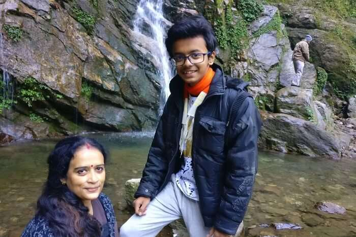 Shantanu northeast trip- near Khangchendzonga waterfall