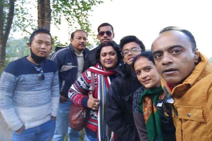 Shantanu northeast trip- family picture
