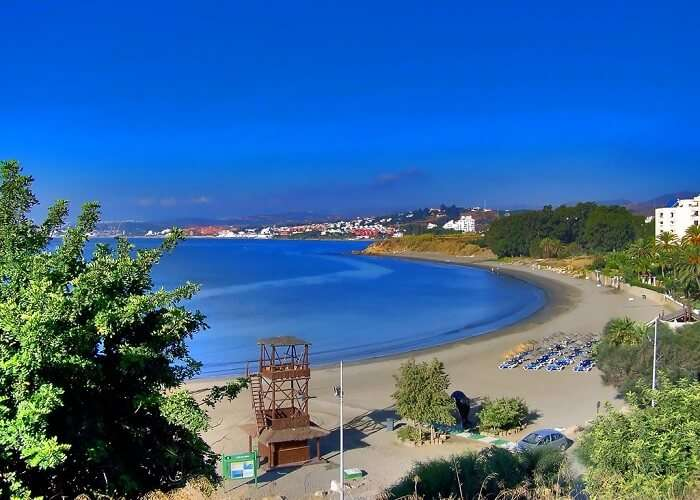 Playa Del Cristo beach in Spain