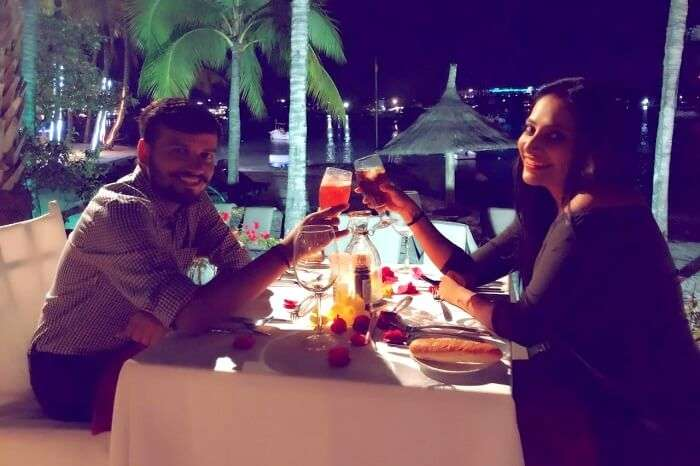 Candlelight dinner in Mauritius