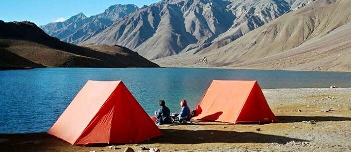 camping near chandratal lake