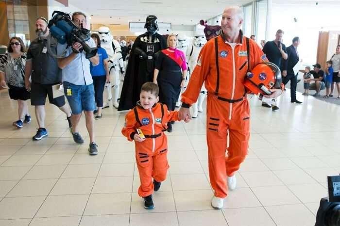 dwayne space suit