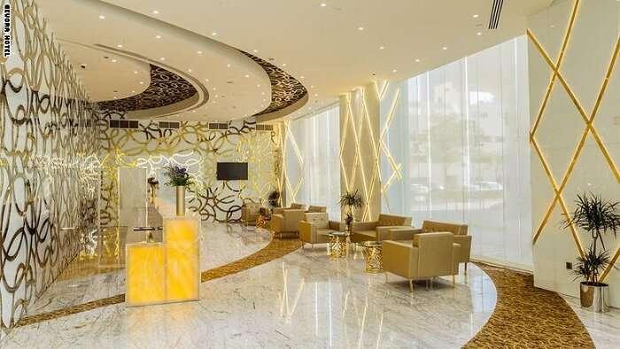 interior of gevora hotel in dubai