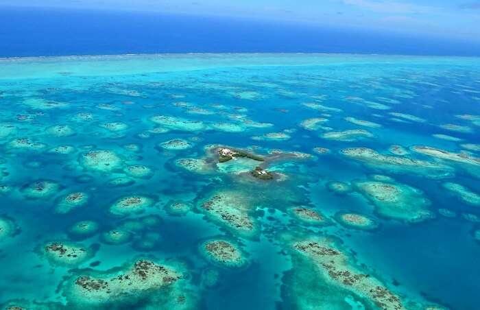 view of gladden island Caribbean sea