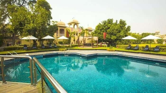 Exterior of heritage manesar resort