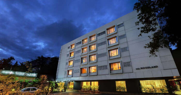Hotel woodland building