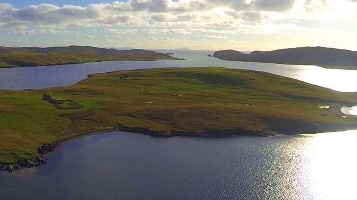 Linga island in scotland