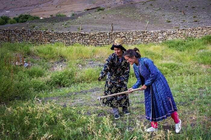 locals in spiti valley