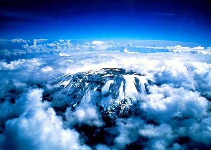 top view of mount kilimanjaro Tanzania