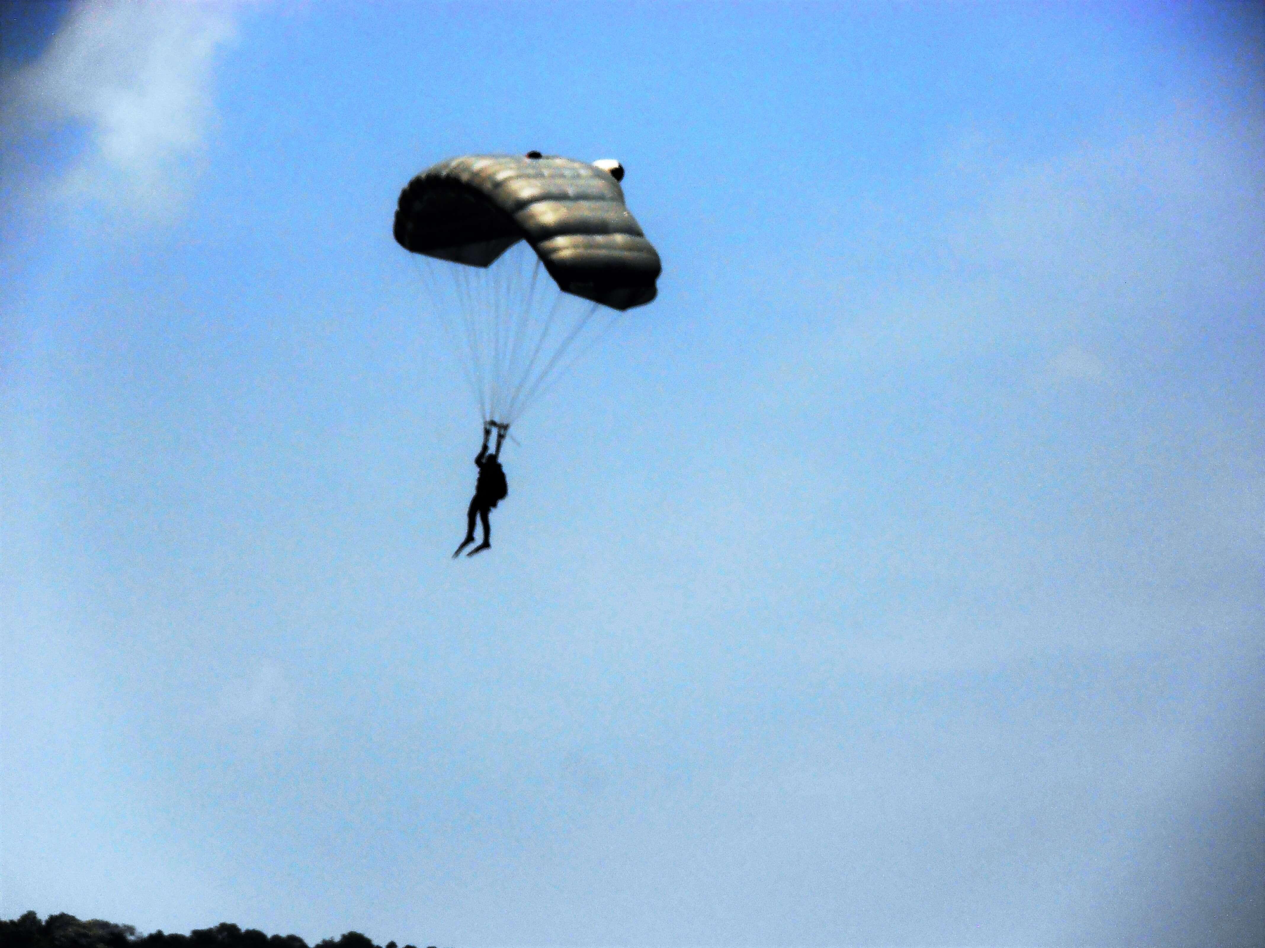 a man parasailing