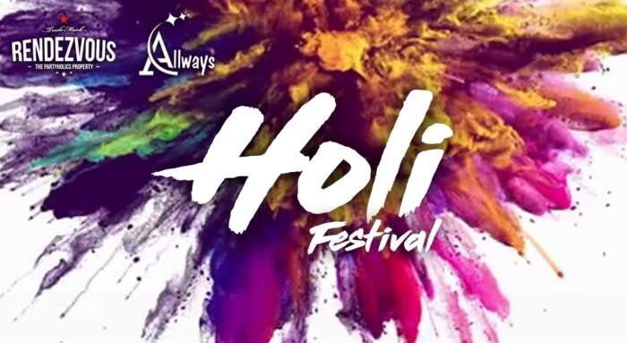 Hyderabad Holi event poster