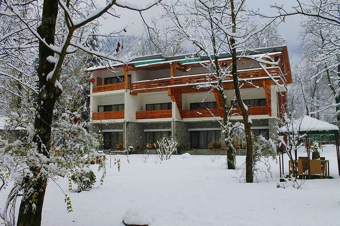 span resort and spa in winter