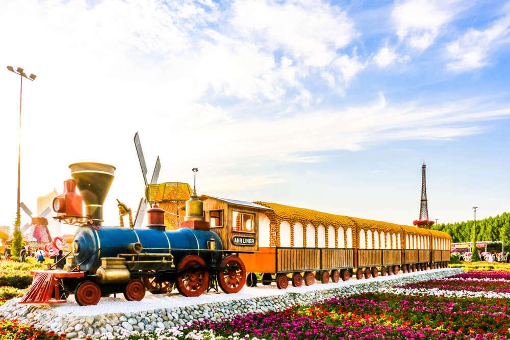 a floral train