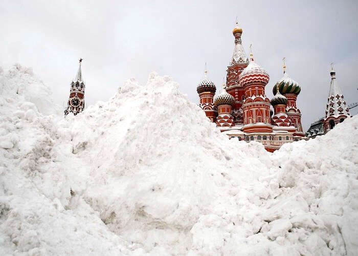 Red Square in MoscowCovered with snow