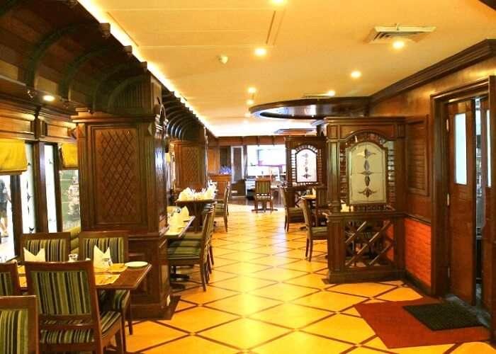 Lobby of tavern restaurant dehradun