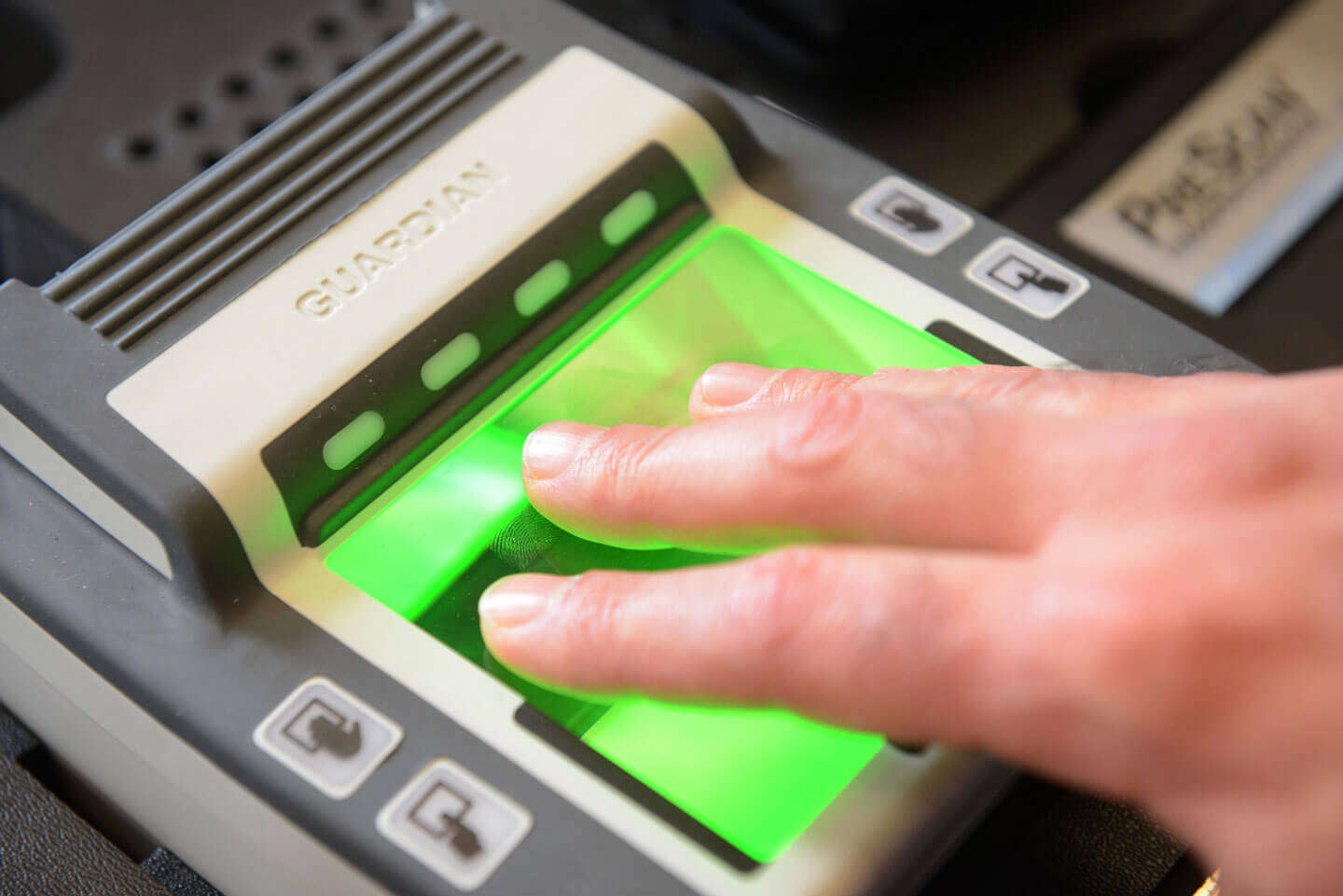 scanning fingerprint on bio metric