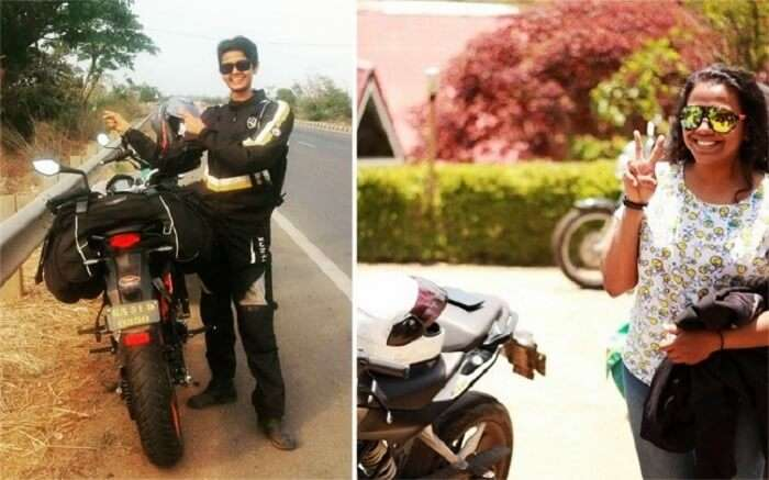Women bikers in India