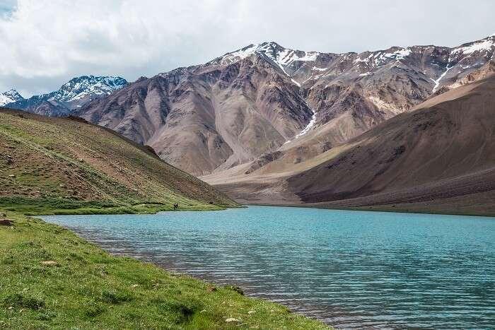 View Of Chandra Tal Lake