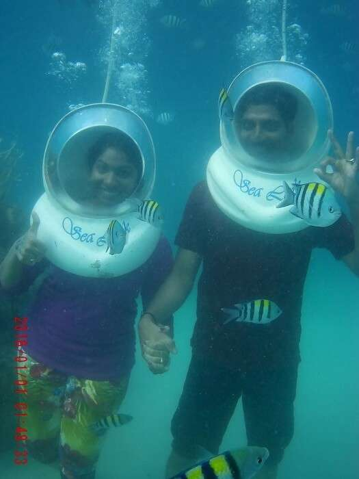 Couple enjoying Water sports in Andaman